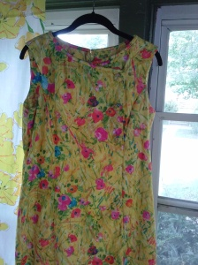 1960s yellow dress