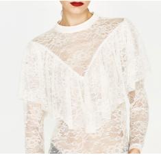 Zara Victorian Style blouse